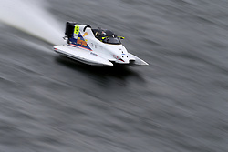 Grant Track of F1 Atlantic Team during the F1H2O UIM World Championship 2018 Grand Prix of London around Royal Victoria Dock