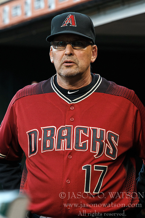 SAN FRANCISCO, CA - APRIL 20: Mark Grace #17 of the Arizona Diamondbacks stands in the dugout before the game against the San Francisco Giants at AT&T Park on April 20, 2016 in San Francisco, California. The Arizona Diamondbacks defeated the San Francisco Giants 2-1. (Photo by Jason O. Watson/Getty Images) *** Local Caption *** Mark Grace