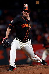 SAN FRANCISCO, CA - SEPTEMBER 15: Tony Watson #56 of the San Francisco Giants pitches against the Colorado Rockies during the seventh inning at AT&T Park on September 15, 2018 in San Francisco, California. The San Francisco Giants defeated the Colorado Rockies 3-0. (Photo by Jason O. Watson/Getty Images) *** Local Caption *** Tony Watson