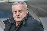Dave Jones (Manager) (Hartlepool United) during the EFL Sky Bet League 2 match between Hartlepool United and Carlisle United at Victoria Park, Hartlepool, England on 14 April 2017. Photo by Mark P Doherty.