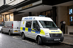 © Licensed to London News Pictures. 14/11/2016. London, UK. The offices of The Daily Mail and The Metro newspapers have been evacuated following a suspicious white powder reportedly being delivered to the newsroom, at Northcliffe House in Kensington. Photo credit : Tom Nicholson/LNP