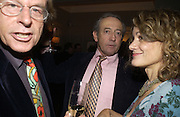 Trevor Grove, Dan Topolski and Mrs. Peter Stothard. Olga Polizzi and Rocco Forte host a party to celebrate the re-opening of Brown's Hotel  after a  £19 million renovation. Albermarle St. London. 12 December 2005. ONE TIME USE ONLY - DO NOT ARCHIVE  © Copyright Photograph by Dafydd Jones 66 Stockwell Park Rd. London SW9 0DA Tel 020 7733 0108 www.dafjones.com