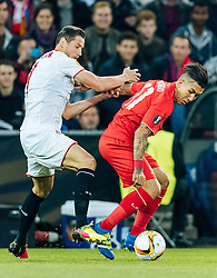18.05.2016, St. Jakob Park, Basel, SUI, UEFA EL, FC Liverpool vs Sevilla FC, Finale, im Bild Grzegorz Krychowiak (FC Sevilla), Roberto Firmino (FC Liverpool) // Grzegorz Krychowiak (FC Sevilla) Roberto Firmino (FC Liverpool) during the Final Match of the UEFA Europaleague between FC Liverpool and Sevilla FC at the St. Jakob Park in Basel, Switzerland on 2016/05/18. EXPA Pictures © 2016, PhotoCredit: EXPA/ JFK