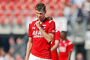 ALKMAAR - 30-08-2015, AZ - Roda JC, AFAS Stadion, 0-1, AZ speler Robert Muhren, teleurstelling.