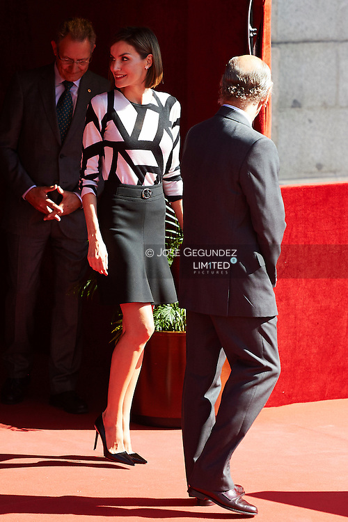 Queen Letizia of Spain at the Red Cross fundraising event at the Congress of Deputies on Little Flag Day ('Fiesta de la Banderita'), in Madrid, Spain.