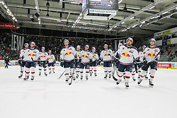 20.02.2015, Curt-Frenzel-Stadion, Augsburg, GER, DEL, Augsburger Panther vs EHC Red Bull München, 49. Runde, im Bild Schlussjubel der Mannschaft EHC Red Bull Muenchen // during Germans DEL Icehockey League 49th round match between Adler Mannheim and Grizzly Adams Wolfsburg at the Curt-Frenzel-Stadion in Augsburg, Germany on 2015/02/20. EXPA Pictures © 2015, PhotoCredit: EXPA/ Eibner-Pressefoto/ Kolbert<br /> <br /> *****ATTENTION - OUT of GER*****