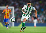 SEVILLE, SPAIN - OCTOBER 15:  Sergio Leon of Real Betis Balompie in action during the La Liga match between Real Betis and Valencia at Estadio Benito Villamarin on October 15 in Seville.  (Photo by Aitor Alcalde Colomer/Getty Images)