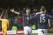 Peter MacDonald celebrates with Carlo Monti after completing the scoring - Dundee v Dumbarton, SPFL Championship at Dens Park<br /> <br />  - &copy; David Young - www.davidyoungphoto.co.uk - email: davidyoungphoto@gmail.com