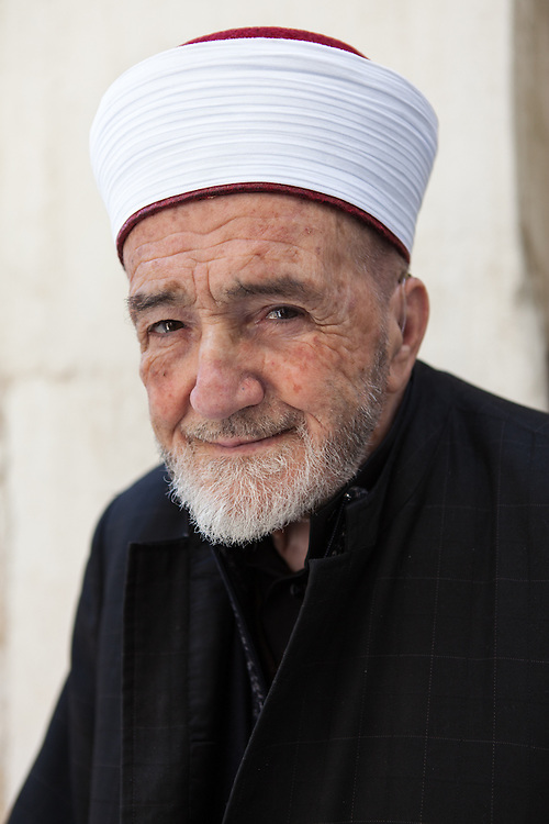 Portrait of Sheikh el-Fadel Amin Aqeily, mufti of Balqa district, Jordan.