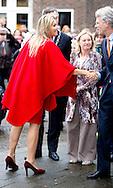 HAARLEM  - Queen maxima arrives at a school in Haarlem to visit the program Children for music. COPYRIGHT ROBIN UTRECHT