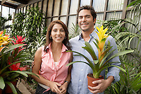 Couple at a Plant Nursery