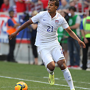 Timmy Chandler, USA, in action during the US Men's National Team Vs Turkey friendly match at Red Bull Arena.  The game was part of the USA teams three-game send-off series in preparation for the 2014 FIFA World Cup in Brazil. Red Bull Arena, Harrison, New Jersey. USA. 1st June 2014. Photo Tim Clayton