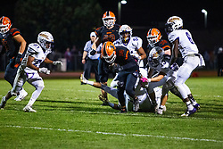 4 October 2019: Bloomington High Raiders at Normal Community Ironmen boys  football, Heyworth Illinois