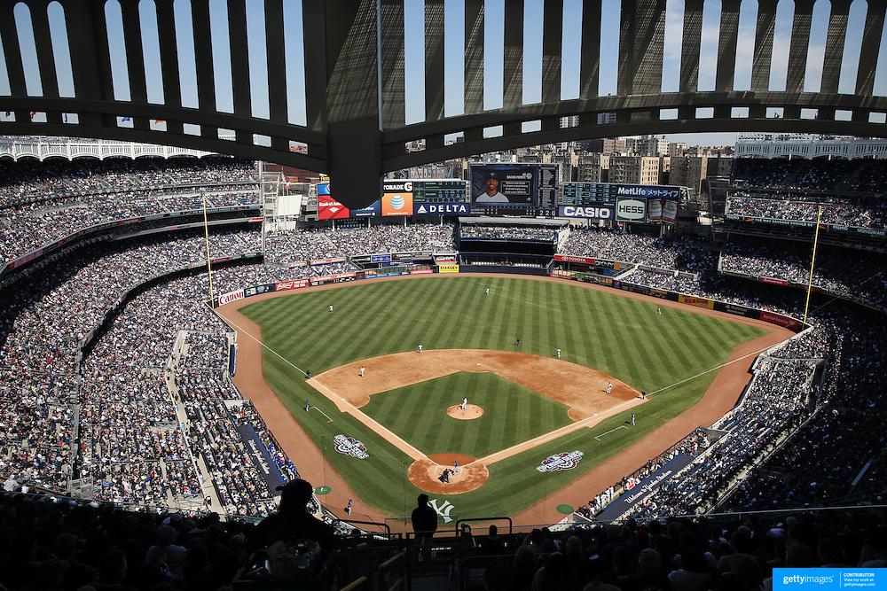 A packed Yankee Stadium during the New York Yankees Vs Toronto Blue Jays season opening day at Yankee Stadium, The Bronx, New York. 6th April 2015. Photo Tim Clayton