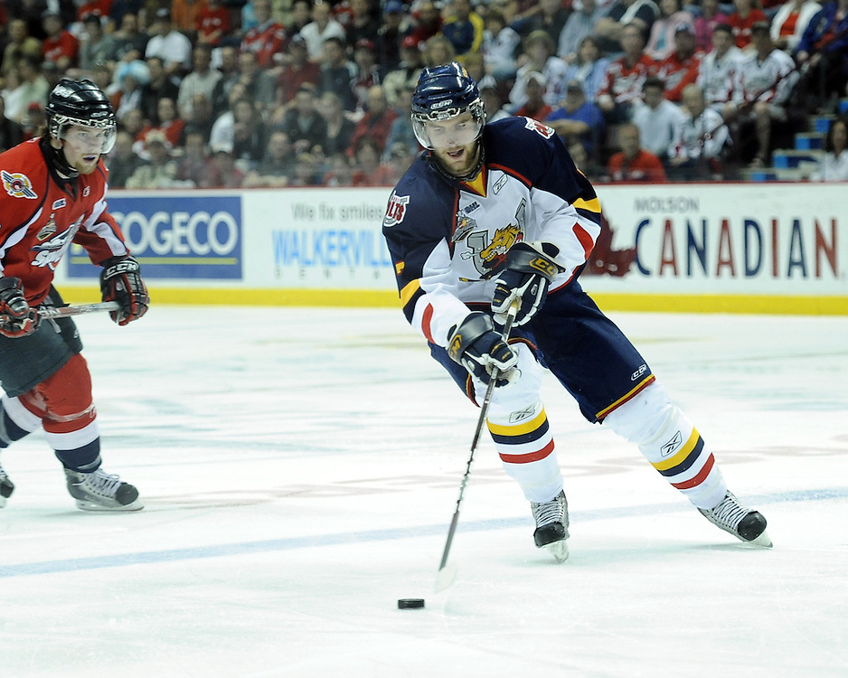 Alex Pietrangelo of the Barrie Colts in Game 4 of the 2010 Rogers OHL Championship Series in Windsor on Tuesday May 4. Photo by Aaron Bell/OHL Images