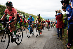 Alicia Gonzalez (ESP) and Romy Kasper (GER) at Stage 3 of 2019 OVO Women's Tour, a 145.1 km road race from Henley-on-Thames to Blenheim Palace, United Kingdom on June 12, 2019. Photo by Sean Robinson/velofocus.com