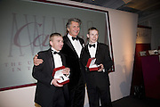 SEB SANDERS, ARNAUD BAMBERGER AND JAMIE SPENCER, The 2007 Cartier Racing Awards. Four Seasonss Hotel. London. 14 November 2007. -DO NOT ARCHIVE-© Copyright Photograph by Dafydd Jones. 248 Clapham Rd. London SW9 0PZ. Tel 0207 820 0771. www.dafjones.com.