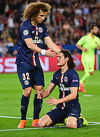 David LUIZ / Edinson CAVANI - 15.04.2015 - Paris Saint Germain / Barcelone - 1/4Finale Aller Champions League<br />