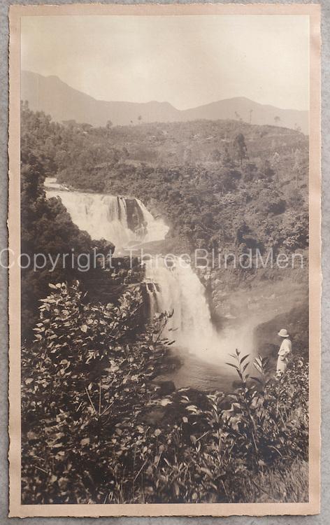 St. Clair Falls. Photo take from Mr. Murugiah Balendran Collection. Kelaniya  Estate.