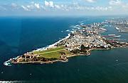 Aerial view of Old San Juan, Puerto Rico