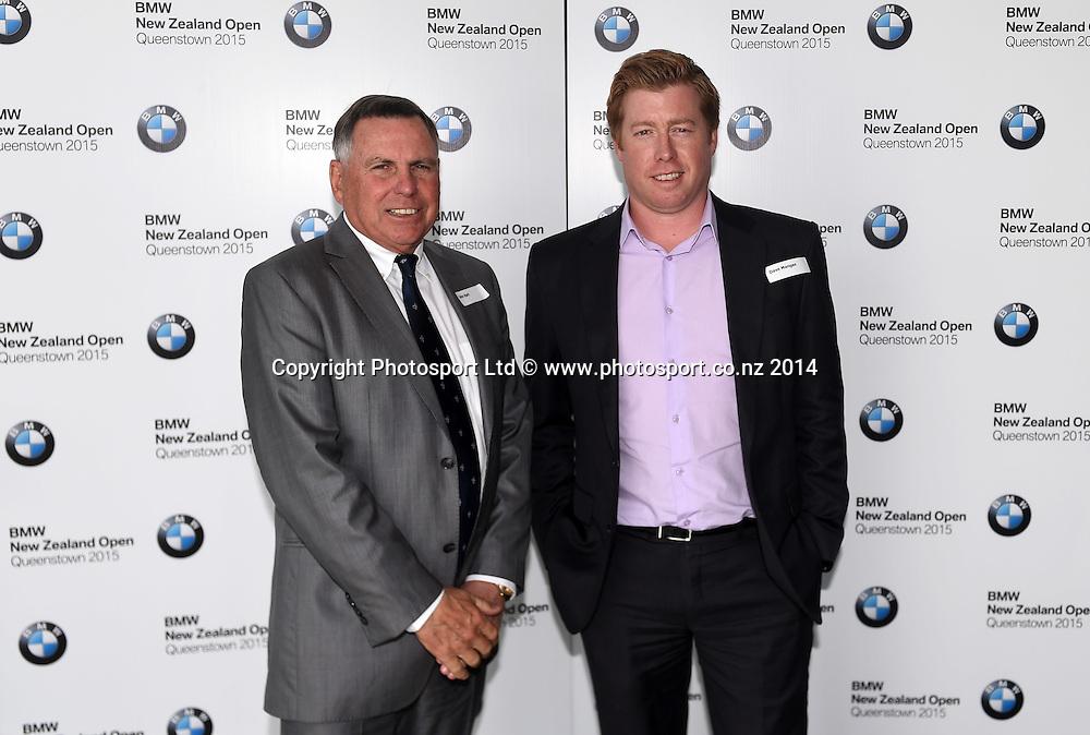 John Hart and Dave Mangan. BMW NZ Golf Open 2015 Announcement, The Cloud, Auckland on Tuesday 7 October 2014. Photo: Andrew Cornaga / Photosport.co.nz
