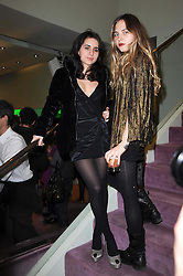 Left to right, ASSISI JACKSON daughter of Jade Jagger and ESME HODSOLL at a party hosted by Prada to celebrate launch of a book documenting the company's diverse projects in fashion, architecture, film and art held at their store 16/18 Old Bond Street, London on 19th November 2009.