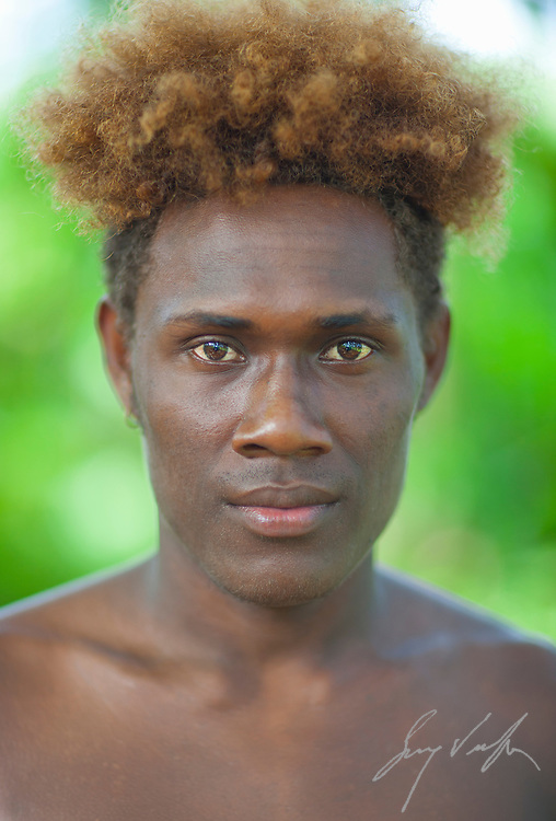 Young Melanese Man From The Solomon Islands