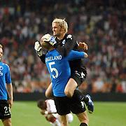 NLD/Amsterdam/20060823 - Ajax - FC Kopenhagen, blijdschap bij Jesper Christiansen en Brede Hangeland na overwinning
