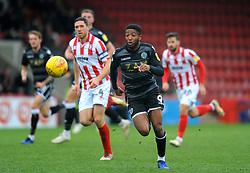 Scott Wilson of Macclesfield Town in action- Mandatory by-line: Nizaam Jones/JMP- 26/01/2019 - FOOTBALL - LCI Rail Stadium -Cheltenham, England - Cheltenham Town v Macclesfield Town - Sky Bet League Two