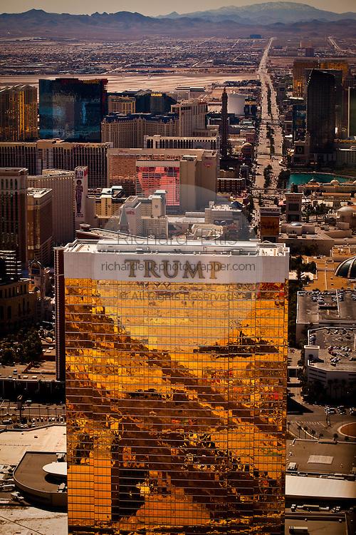Aerial view of the Trump Casino Las Vegas, Nevada