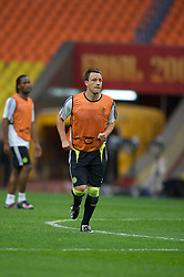MOSCOW, RUSSIA - Tuesday, May 20, 2008: Chelsea's captain John Terry during training ahead of the UEFA Champions League Final against Manchester United at the Luzhniki Stadium. (Photo by David Rawcliffe/Propaganda)