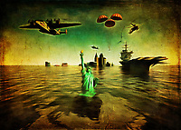 MAGA is the hollow refrain of people who do not understand the dire situation we find ourselves in. As we continue to obsess and dedicate our money and attention to the military industrial complex, climate change wreaks havoc across the globe. Suffice to say that if we don't do something about this situation soon, the idea of the State of Liberty under water isn't going to be so fantastical. The time to act is now. This stirring piece makes an emotional plea to take climate change seriously. Are you going to be someone who is up to the challenge of making America great again? .<br />