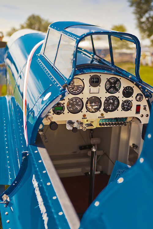 The cockpit of the Caudron C.460, shot in front of the Red Barn at Oshkosh, Wisconsin.  July 2010.