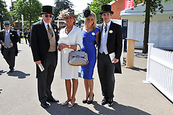 Left to right, JOHN & JILLY JAMES, Soho heiress FAWN JAMES and NICHOLAS LAWSON at day 1 of the 2011 Royal Ascot Racing festival at Ascot Racecourse, Ascot, Berkshire on 14th June 2011.