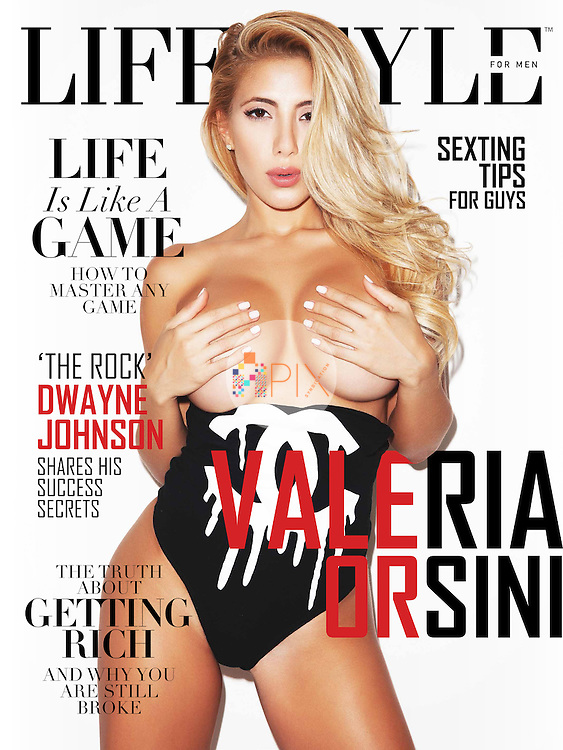 Valeria Orsini is interviewed for the latest cover/feature of Lifestyle For Men magazine, UK.  <br /> <br /> Images from our shoot 'Valeria Orsini', which is model released for all uses: http://www.apixsyndication.com/gallery/Valeria-Orsini/G0000nw2PZaDj1Lk/C0000MhypQZTQwAo