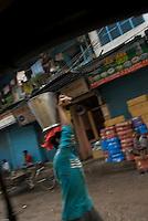 Street scene in Old Delhi near the mosque.<br /> <br /> Scene de rue autour a Old Delhi aux alentours de la grande mosquee.
