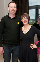 Something to Sing About Accompanist Colm Henry and Choir Director Lisa Seary who took part in the Choir Factor 2014 in the Radisson blu Hotel, Galway in aid of SCCUL Sanctuary at Kilcuan, Clarinbridge . Photo:Andrew Downes.