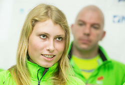 Marusa Mismas during press conference of Slovenian Team for European Indoor Athletics Championships Prague 2015, on March 4, 2015 in Ljubljana, Slovenia. Photo by Vid Ponikvar / Sportida