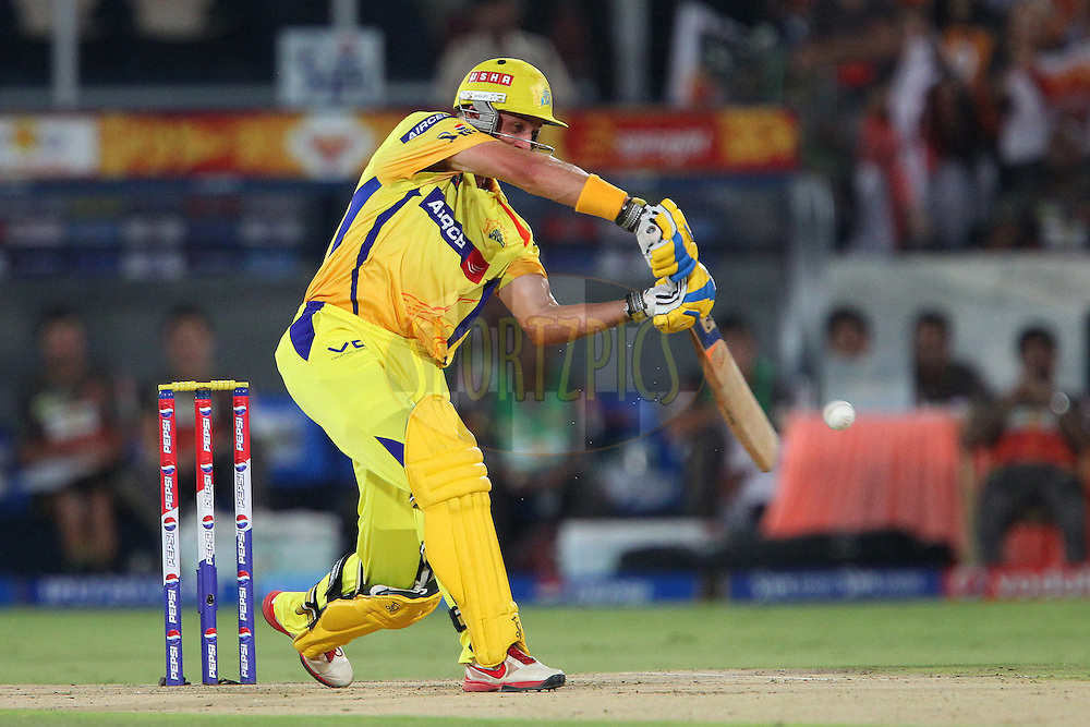 Michael Hussey during match 54 of the Pepsi Indian Premier League between The Sunrisers Hyderabad and Chennai Superkings held at the Rajiv Gandhi International  Stadium, Hyderabad  on the 8th May 2013..Photo by Ron Gaunt-IPL-SPORTZPICS ..Use of this image is subject to the terms and conditions as outlined by the BCCI. These terms can be found by following this link:..http://www.sportzpics.co.za/image/I0000SoRagM2cIEc