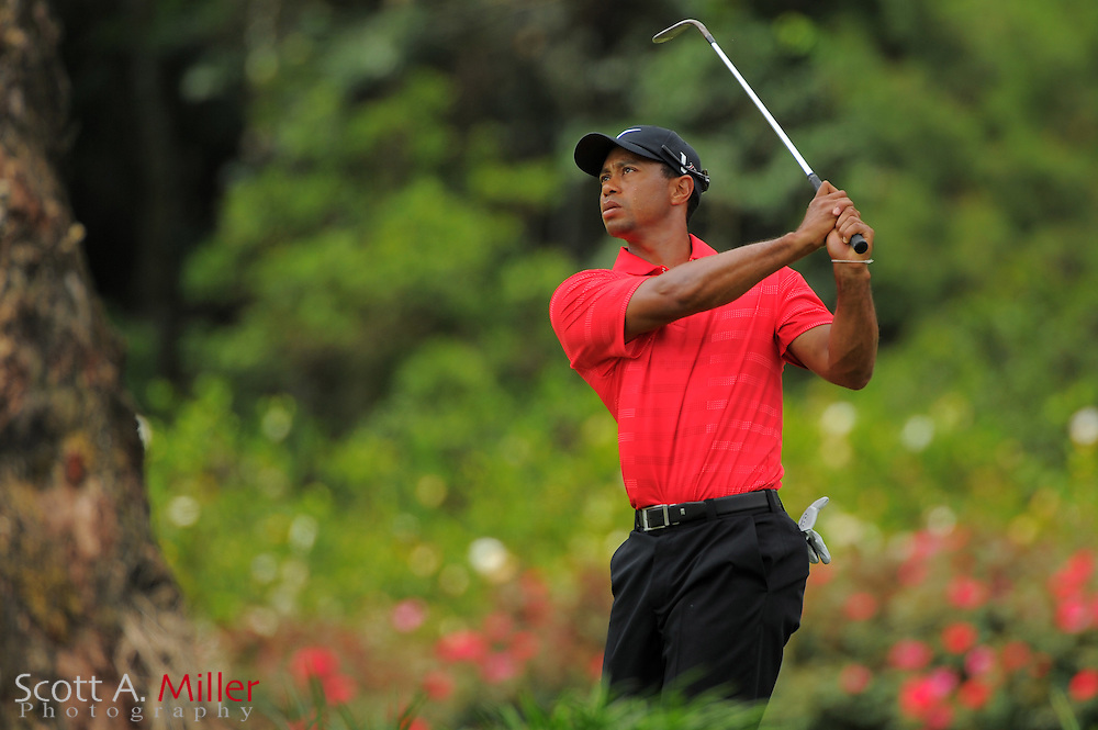 Tiger Woods during the final round of the Players Championship at the TPC Sawgrass on May 13, 2012 in Ponte Vedra, Fla. ..©2012 Scott A. Miller..