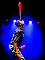 Pictured: Bibi Tesfamariam from Circus Abyssinia (Ethiopia)<br /> <br /> Performers from across the globe came together at the Edinburgh Festival to mark the 250th anniversary of circus performances.<br /> <br /> &copy; Dave Johnston / EEm