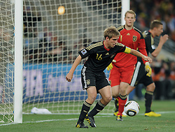 Philipp Lahm  during the 2010 FIFA World Cup South Africa Group D match between Ghana and Germany at Soccer City Stadium on June 23, 2010 in Johannesburg, South Africa.