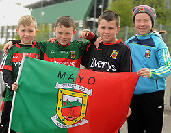 Dylan, Aaron, Joey and Hanna Keane from Crossmolina at McHale park on sunday last.<br />Pic Conor McKeown