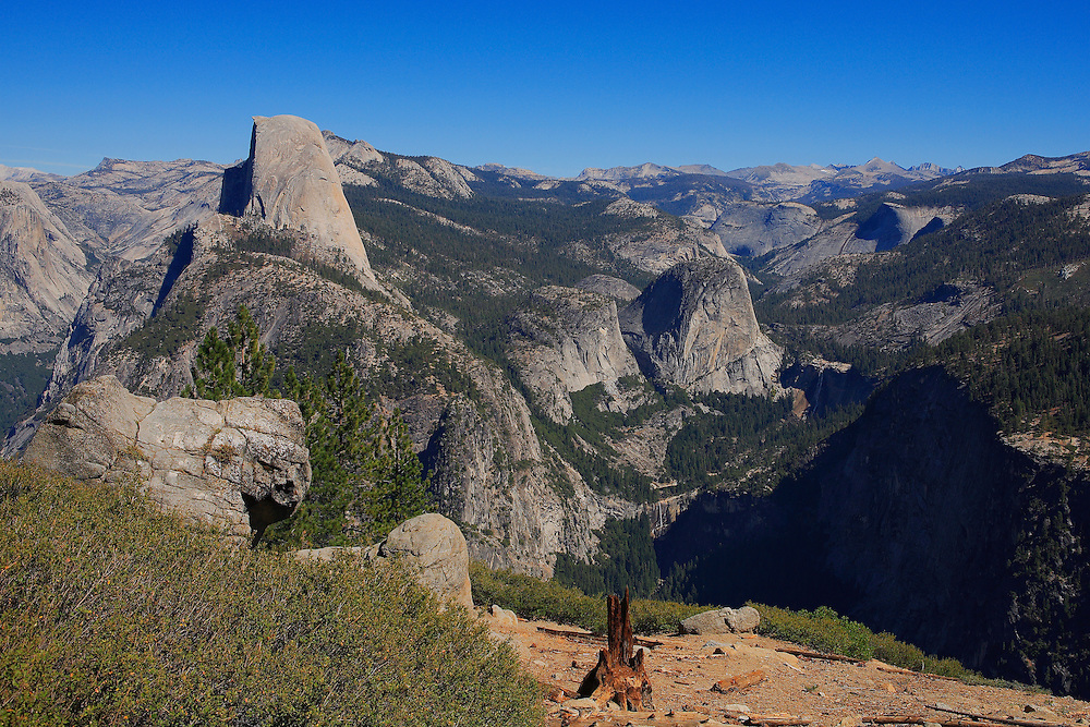 Half Dome And Little Yosemite Valley - Washburn Point - Yosemite