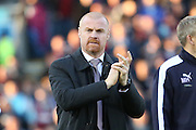 Burnley Manager Sean Dyche during the Sky Bet Championship match between Burnley and Middlesbrough at Turf Moor, Burnley, England on 19 April 2016. Photo by Simon Brady.
