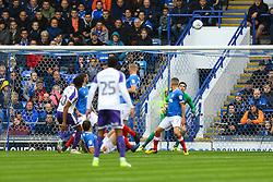 Michael Ihiekwe of Rotherham United shot sails over the cross bar - Mandatory by-line: Jason Brown/JMP - 03/09/2017 - FOOTBALL - Fratton Park - Portsmouth, England - Portsmouth v Rotherham United - Sky Bet League Two