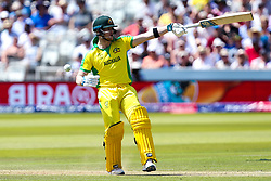 Steve Smith of Australia points with his bat - Mandatory by-line: Robbie Stephenson/JMP - 29/06/2019 - CRICKET - Lords - London, England - New Zealand v Australia - ICC Cricket World Cup 2019 - Group Stage