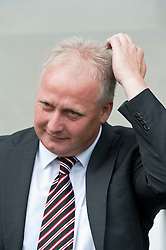 CARDIFF, WALES - Sunday, August 8, 2010: Sheffield United's manager Kevin Blackwell during the League Championship match against Cardiff City at the Cardiff City Stadium. (Pic by: David Rawcliffe/Propaganda)