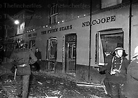 Aftermath of the IRA terrorist bombing of the Seven Stars pub in Guildford, Surrey, UK on 5th October 1974. Photograph by Terry Fincher