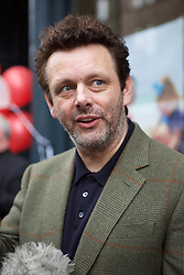 Actor and social campaigner Michael Sheen in Leith to open a branch of Castle Community bank, pic copyright Terry Murden @edinburghelitemedia